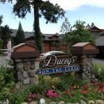 Ducey's is a great spot for dinner with views of Bass Lake