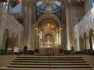 Interior of the Basilica of the National Shrine of the Immaculate Conception in Washington, D.C.